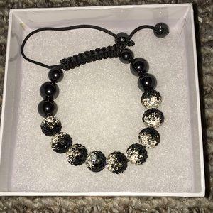 Jewelry - Black & White Shamballa Bracelet